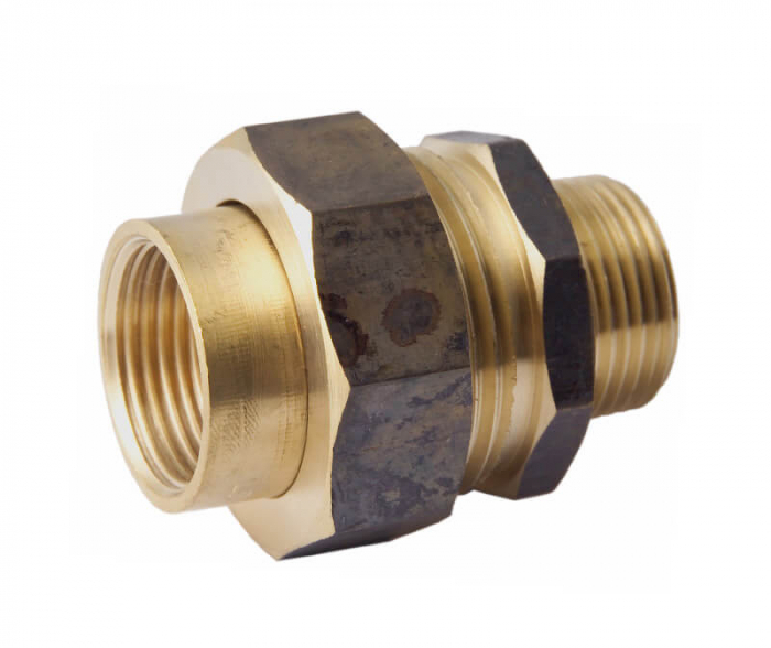 Barrel Union Brass Male / Female BSP Thread 15mm (1/2 Inch)