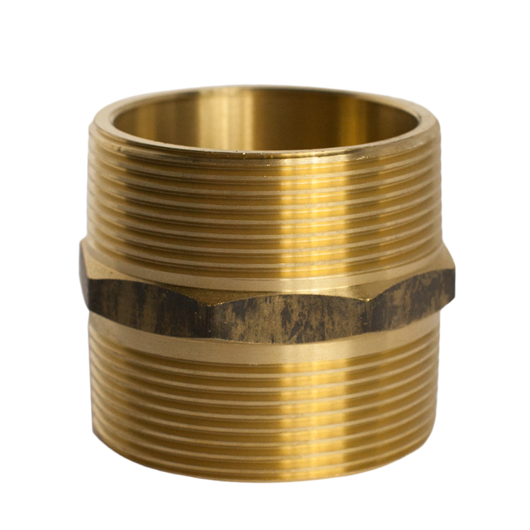 BRASS Hexagonal Nipple 40mm (1.5 Inch) Male Threaded BSP