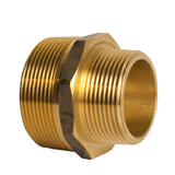 BRASS Hex Reducing Nipple 50 x 25mm (2 x 1 Inch)