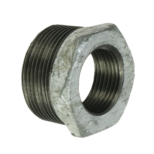Galvanised Malleable Bush Reducing BSP Adaptor 25M X 15F