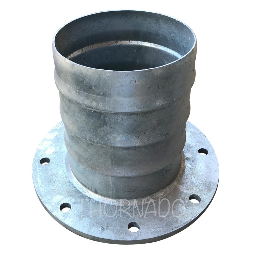 Hose Tail Galvanised Flange Table D 250mm (10 Inch)