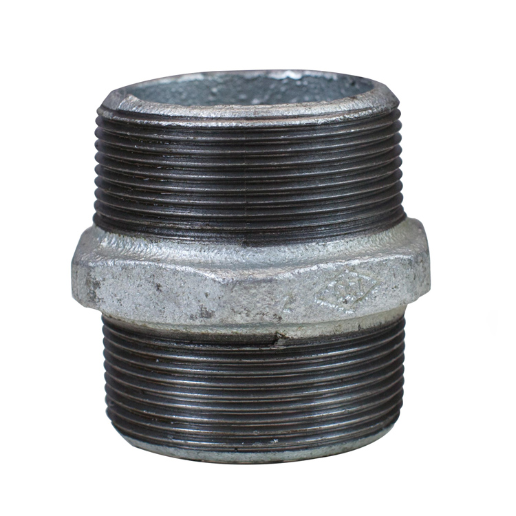 Galvanised Hexagonal Nipple BSP Thread 40mm (1.5 Inch)