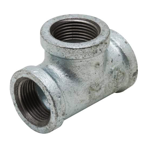 Galvanised Malleable Tee Equal BSP Thread