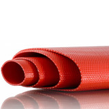 PVC Heavy Duty Red Layflat Hose 3 inch (80mm) - 25 metre roll