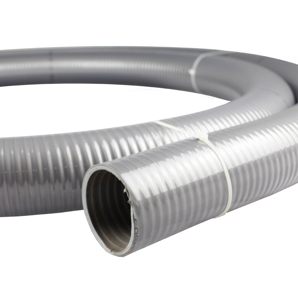 PVC Grey Suction Water Transfer Hose 38mm (1.5 inch)