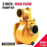 3 Inch High Flow Water  Pump Kit - 19.05mm Key Shaft